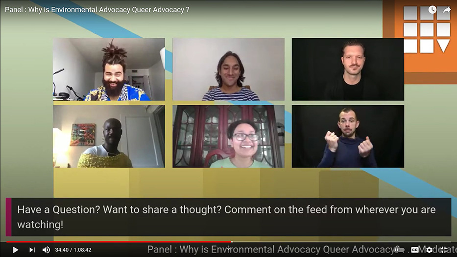 A screenshot of panelists from YouTube. Top Row (Left to right): AJ Hudson and Hamzah Jhaveri Bottom Row (Left to right): Ariel Wilkerson and Adrian Huq,