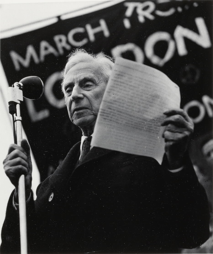 Lewis Morley, Bertrand Russell, Trafalgar Square, Aldermaston March, 1958