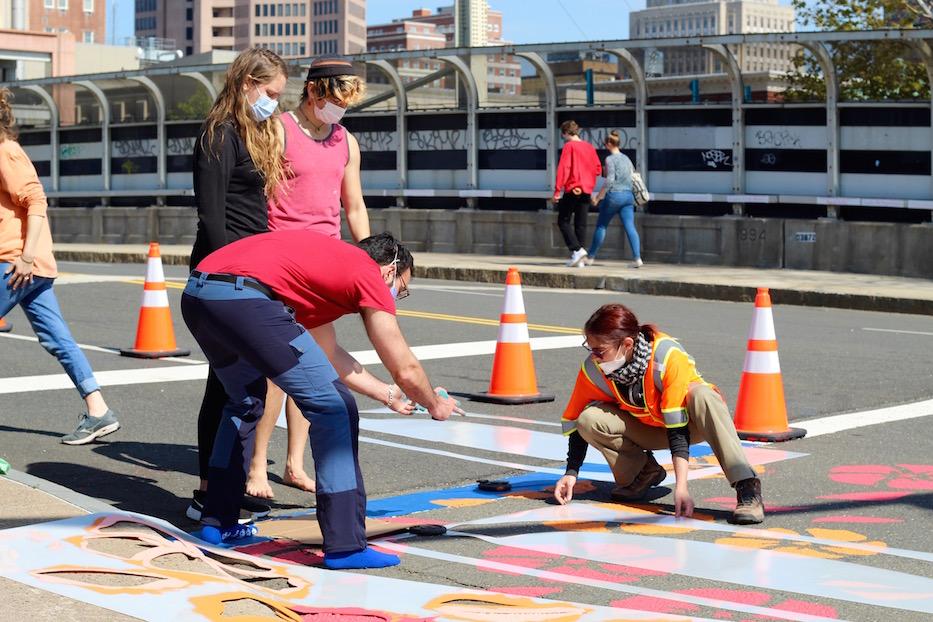 Crosswalk Art Blooms In Wooster Square