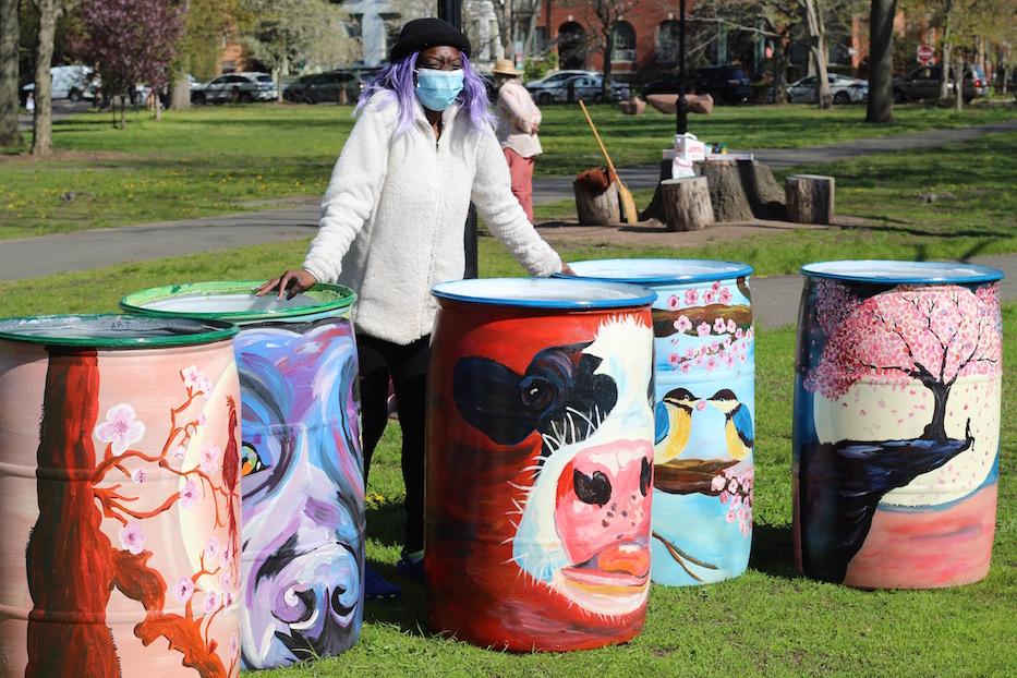Trash Barrels Brighten Park's Pandemic Traditions