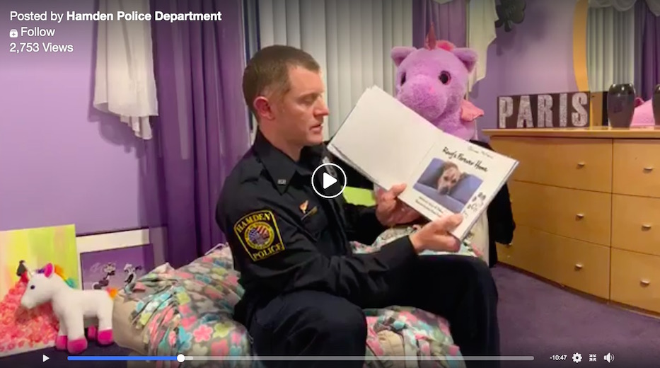 Hamden Cops Add Story Time To COVID-19 Community Policing