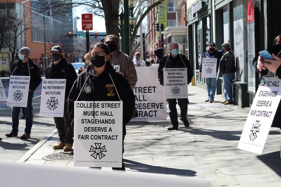 Stagehands Hold The Picket Line For College Street Colleagues