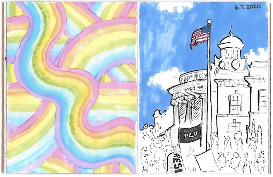 Hamden Historic Sketchbook Project Paints A Pandemic Picture