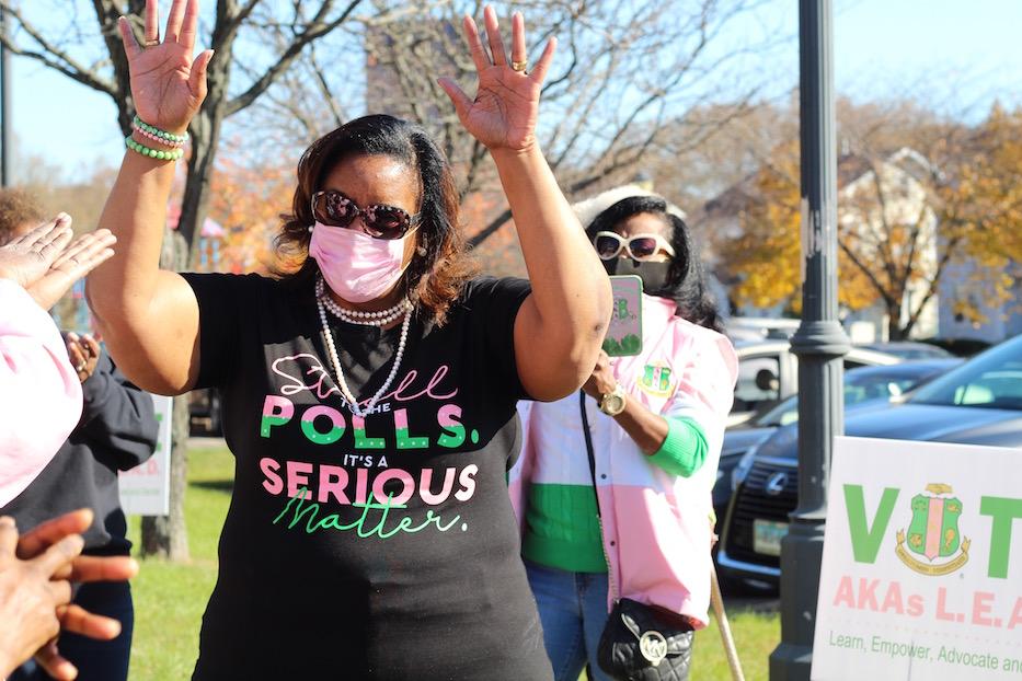 AKA Sorors Do A Victory Stroll For Kamala Harris